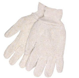Memphis Glove Reversible Terry Cloth Knit Glove Wrist White M9400KM