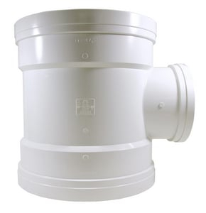 Gasket Reducing SDR 35 PVC Sewer Tee MUL0439