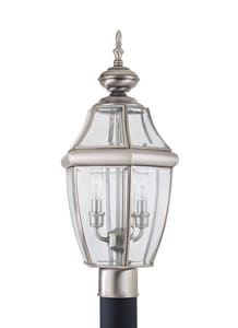 Seagull Lighting Lancaster 60 W 2-Light Candelabra Post Lantern S8229