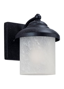 Seagull Lighting Yorktown 8-1/4 in. 100 W 1-Light Medium Lantern in Forged Iron S84048185
