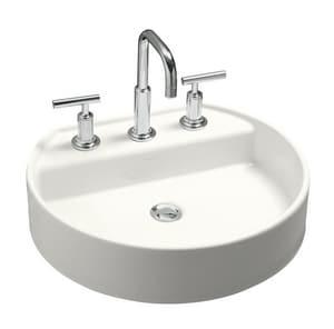 Kohler Chord® 18-5/8 x 16-13/16 in. Wading Pool Bathroom Sink with Single Faucet Hole White K2331-1-0