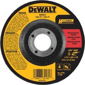 Dewalt Cutting/Grinding Wheel DDW8424