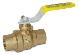Red-White Valve Solder Forged Brass Full Port Ball Valve with Lever Handle R5549F