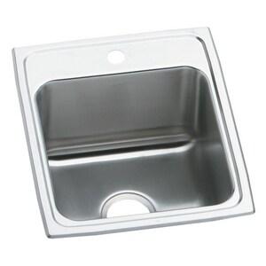 Elkay Gourmet® 1-Bowl Topmount Kitchen Sink with Center Drain EDLR172010
