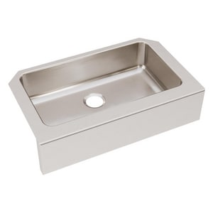 Elkay Gourmet Lustertone® 33 x 22-1/2 in. Single Bowl Apron Fron Under-Mount Sink EELUHFS2816
