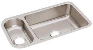Elkay Harmony™ 32-1/2 x 18-1/4 in. 25/75 Double Bowl Under-Mount Sink EELUH3219