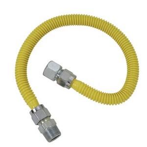 Brass Craft 3/4 x 3/4 in. MIP x FIP Valve Gas Connector BCSSC1J