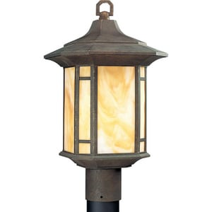 Progress Lighting Arts and Crafts 1 Light 150W Post Lantern Weathered Bronze PP542846