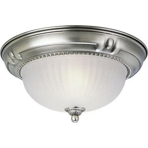Progress Lighting Huntington 11-3/4 in. 2-Light Close-to-Ceiling Fixture with Etched Ribbed Glass Shade PP3724