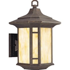 Progress Lighting Arts and Crafts 150 W Medium Wall Lantern in Weathered Bronze PP562946