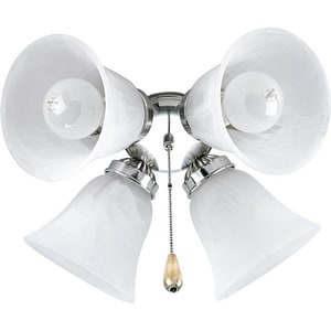 Progress Lighting AirPro 60W 4-Light Ceiling Fan Light Kit PP2610