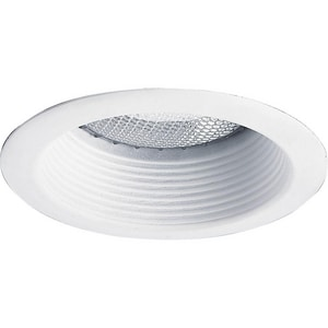 Progress Lighting 5 in. Recessed Shallow Baffle Trim White PP837528