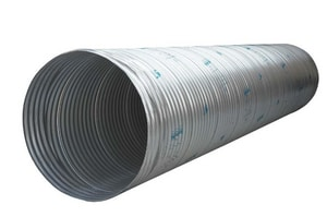 Contech Construction 24 ft. Galvanized Coated Corrugated Steel Corrugated Pipe CMP2416GA