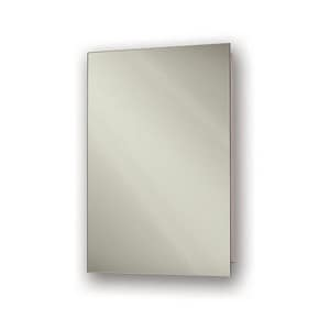 Jensen Focus 16 in. Polished Edge Glass Medicine Cabinet in Basic White R1430