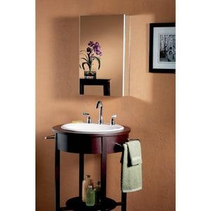 Jensen Metro Classic 15 in. Multicolor Medicine Cabinet with Flat Mirror R52WH244PF