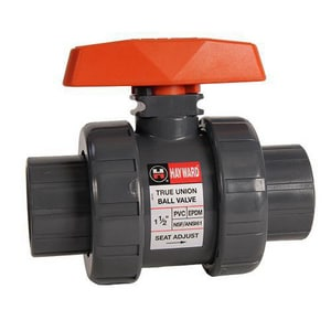 Hayward Industrial Products PVC True Union Ball Valve with EPDM Seat HTB1STE