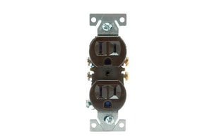 Diversitech 15A 125V Duplex Receptacle in Brown DIV620700