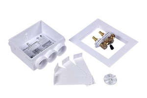 Oatey Quadtro Washing Machine Outlet Box in White O38538