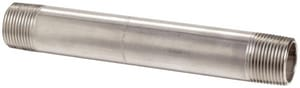 3/4 in. Threaded Schedule 40 304L Stainless Steel Weld on End Nipple DS44NTOEF