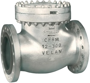 Velan Valve 300# Carbon Steel Flanged Swing Check Valve VF1114C02TY