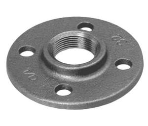 Flared 150 galvanized malleable iron floor flange for 1 inch galvanized floor flange