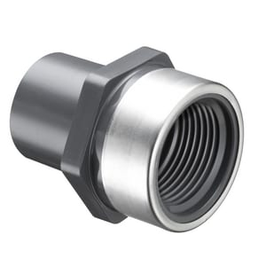 Schedule 80 PVC Spigot x FIP Stainless Steel Transitional Adapter S87800SR