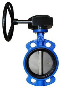 FNW 255 psi Cast Iron Buna-N Wafer Butterfly Valve Gear Operator FNW731BG