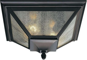 Murray Feiss Industries 60 W 2-Light Semi-Flush Mount Lantern in Oil Rubbed Bronze MOL1013ORB