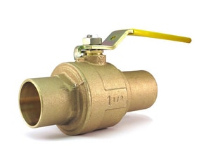 Milwaukee Valve 2-Piece 600psig WOG Stainless Steel Solder Full Port Isolation Ball Valve with Lever Handle MBA450S