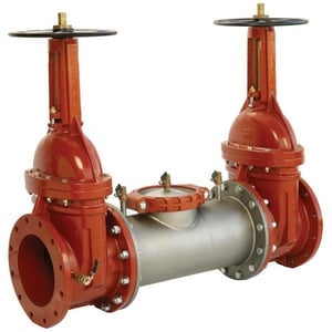 Ames Fire & Waterworks Double Check Backflow Preventer Assembly Outside Stem and Yoke Gate Valve A2000SSOSY