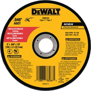 DEWALT 7/8 in. A60T Metal Thin Cutoff Wheel Handle DDW8725