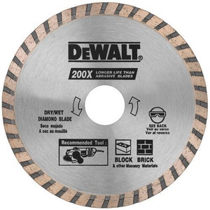 Dewalt High Performance Diamond Masonry Blade DDW4725B