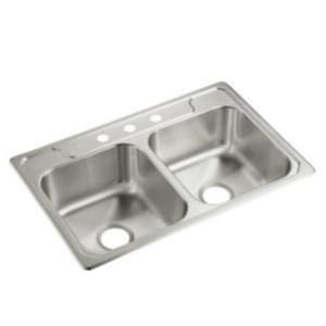 Sterling Plumbing Group Middleton® 33 x 22 x 7 in. Double Bowl Professional Sink S147073NA
