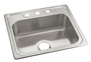 Sterling Plumbing Group Middleton® 25 x 22 x 7 in. Single Bowl Stainless Steel Kitchen Sink S14710