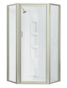 Sterling Intrigue™ 64 x 39 in. Neo-Angle Shower Door in Nickel SSP2275A38N