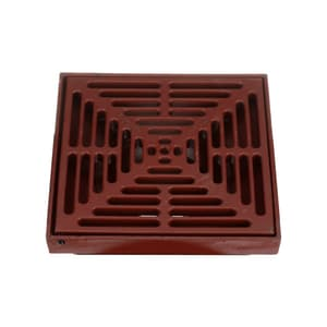 Mifab Sump Flare Drain with 12 in. Square Cast Iron Frame and Grate MF1440TA4