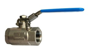 Milwaukee Valve Stainless Steel NPT Reduced Port Ball Valve with Latch Lock Lever M20SS0R02LL