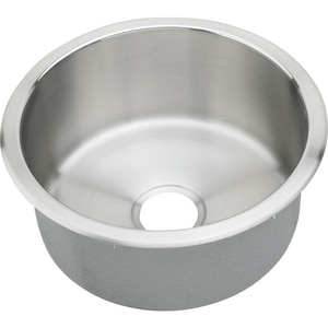 Elkay The Mystic® 18-3/8 x 18-3/8 in. Circular Single Bowl Top Mount Sink Lustrous Highlighted Satin ERLR16FB