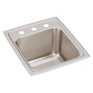 Elkay Gourmet® Stainless Steal Single Bowl Top Mount Bar Sink EDLR151710