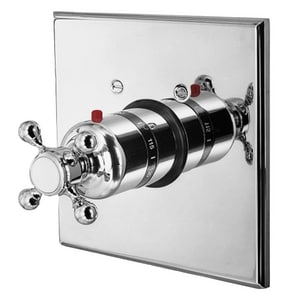 Newport Brass Astor Square Thermostatic Trim Only with Single Cross Handle N3-924TS/26