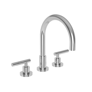 Newport Brass East Linear 4-Hole Kitchen Faucet with Double Lever Handle and Sidespray N9911L