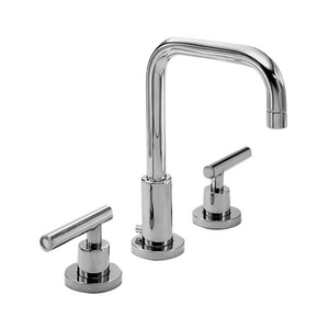 Newport Brass East Square 3-Hole Widespread Lavatory Faucet with Double Lever Handle N1400L