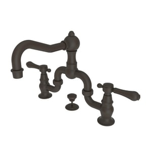 Newport Brass Chesterfield 3-Hole Widespread Bathroom Faucet with Double Lever Handle N1030B