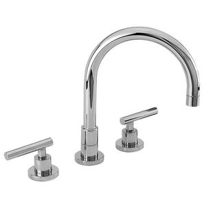 Newport Brass East Linear 3-Hole Kitchen Faucet with Double Metal Lever Handle N9901L
