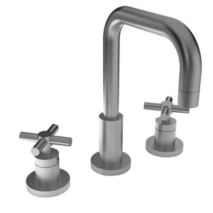 Newport Brass East Square 3-Hole Widespread Lavatory Faucet with Double Cross Handle N1400