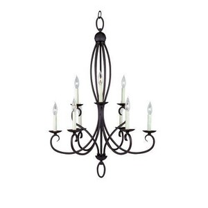 Seagull Lighting Pemberton 60 W 9-Light Candelabra Chandelier S31075