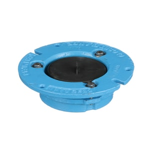 Mifab 4 x 2 in. Cast Iron Closet Flange with Test Cap MCF42TC