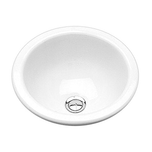 B & B Sales Donna 12 in. Round Undercounter Lavatory Sink in White BDONNAWH