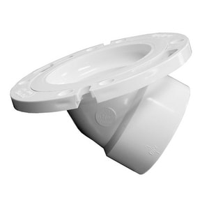 Jones Stephens 3 in. PVC 45 Degree Closet Flange JC55043