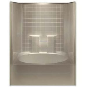 Aquarius Industries Luxury 60 x 43-1/4 in. Tub and Shower with Left Hand Drain in White AG6042TSLWH